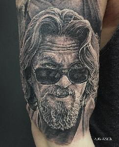 the dude tattoo portrait