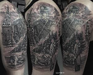 realistic tattoo blackandgreytattoo