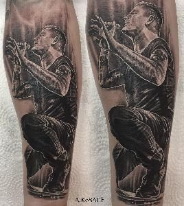 realistic tattoo music blackandgreytattoo