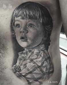 portrait blackandgreytattoo realistic tattoo
